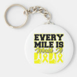 Sarcoma Cancer Every Mile is Worth It Keychains