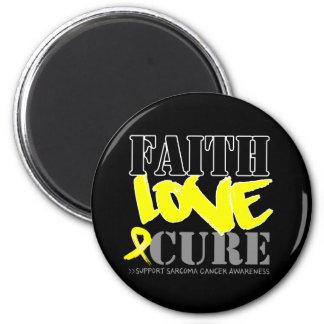 Sarcoma Cancer Faith Love Cure 2 Inch Round Magnet