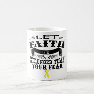 Sarcoma Cancer Faith Stronger than Fear Coffee Mug