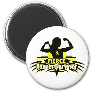 Sarcoma Cancer Fierce Cancer Survivor Fridge Magnets