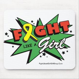 Sarcoma Cancer Fight Like A Girl POW Mousepads