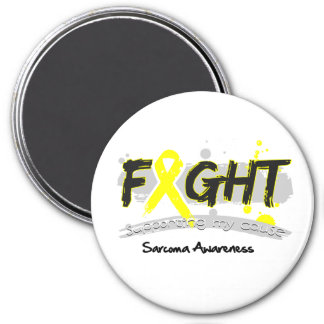 Sarcoma Cancer FIGHT Supporting My Cause 3 Inch Round Magnet