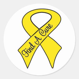 Sarcoma Cancer Find a Cure Classic Round Sticker