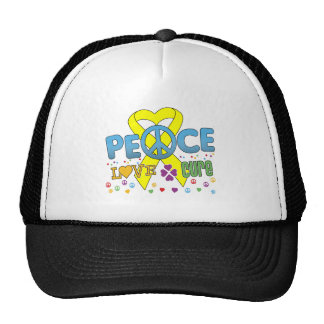 Sarcoma Cancer Groovy Peace Love Cure Trucker Hat