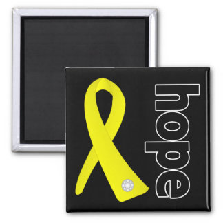 Sarcoma Cancer Hope Ribbon 2 Inch Square Magnet