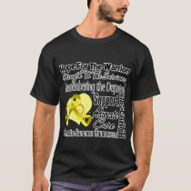 Sarcoma Cancer Hope Tribute Collage T-Shirt