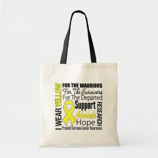 Sarcoma Cancer I Wear Yellow Ribbon TRIBUTE Bag