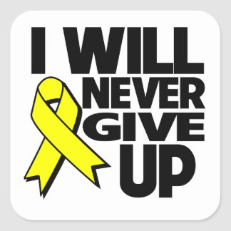 Sarcoma Cancer I Will Never Give Up Square Sticker