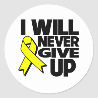 Sarcoma Cancer I Will Never Give Up Classic Round Sticker
