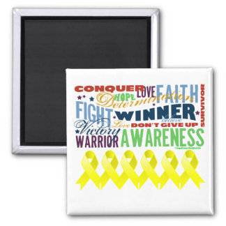 Sarcoma Cancer Inspirational Words 2 Inch Square Magnet