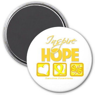 Sarcoma Cancer Inspire Hope 3 Inch Round Magnet