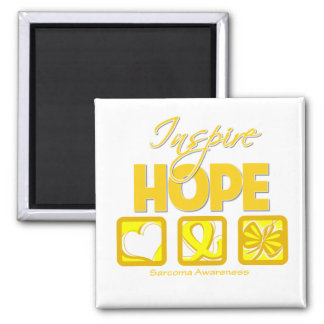 Sarcoma Cancer Inspire Hope 2 Inch Square Magnet