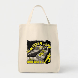 Sarcoma Cancer - Men Run For A Cure Grocery Tote Bag