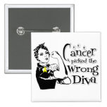 Sarcoma Cancer Picked The Wrong Diva Pin