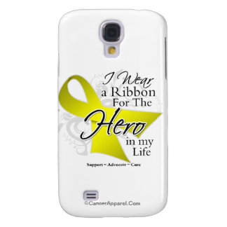 Sarcoma Cancer Ribbon Hero in My Life Galaxy S4 Cover