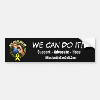 Sarcoma Cancer - Rosie The Riveter - We Can Do It Car Bumper Sticker