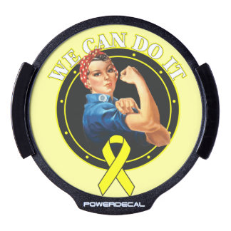 Sarcoma Cancer Rosie The Riveter We Can Do It LED Car Window Decal