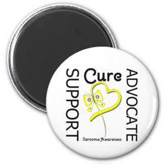 Sarcoma Cancer Support Advocate Cure 2 Inch Round Magnet