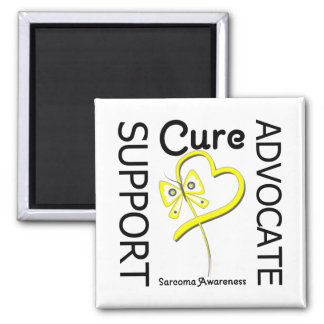 Sarcoma Cancer Support Advocate Cure 2 Inch Square Magnet