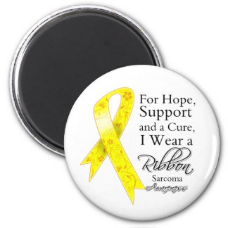 Sarcoma Cancer Support Hope Awareness 2 Inch Round Magnet