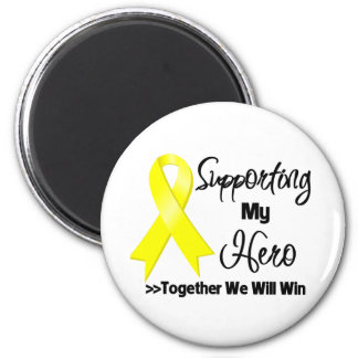 Sarcoma Cancer Supporting My Hero 2 Inch Round Magnet