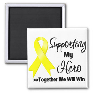 Sarcoma Cancer Supporting My Hero 2 Inch Square Magnet
