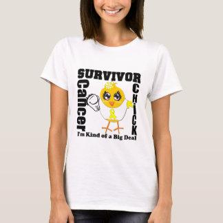 Sarcoma Cancer Survivor Chick Ribbon T-Shirt