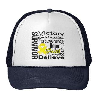 Sarcoma Cancer Survivor Collage Trucker Hat