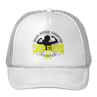Sarcoma Cancer Tough Survivor Trucker Hats