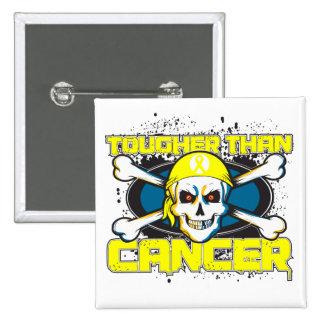 Sarcoma Cancer Tougher Than Cancer Skull Pinback Button