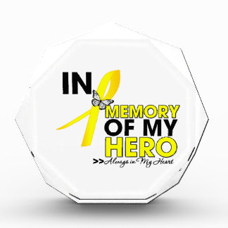 Sarcoma Cancer Tribute In Memory of My Hero Acrylic Award