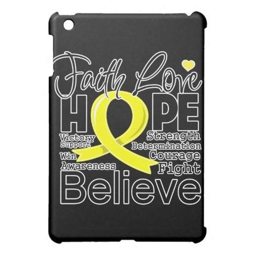 Sarcoma Cancer Typographic Faith Love Hope Case For The iPad Mini