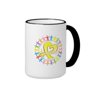 Sarcoma Cancer Unite in Awareness Ringer Coffee Mug