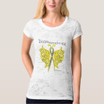 Sarcoma Cancer Warrior Celtic Butterfly Tee Shirts