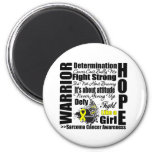 Sarcoma Cancer Warrior Fight Slogans Magnet