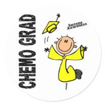 Sarcoma CHEMO GRAD 1 Classic Round Sticker