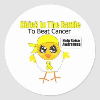 Sarcoma Chick In the Battle to Beat Cancer Classic Round Sticker