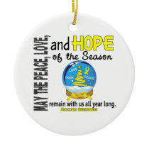 Sarcoma Christmas 3 Snow Globe Ornaments