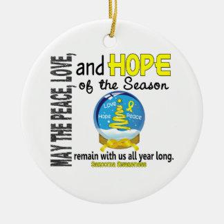 Sarcoma Christmas 3 Snow Globe Ornaments