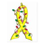 Sarcoma Christmas Lights Ribbon Postcard