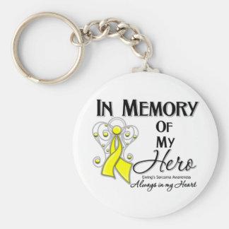 Sarcoma de Ewing en memoria de mi héroe Llavero Redondo Tipo Pin