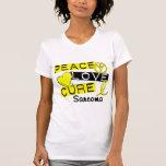 Sarcoma de la curación del amor de la paz camiseta