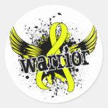 Sarcoma del guerrero 16 etiquetas redondas