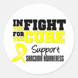 Sarcoma en la lucha para la curación pegatina redonda