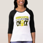 Sarcoma ensuciado con el polluelo incorrecto tee shirt