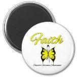 Sarcoma Faith Butterfly Ribbon Fridge Magnets