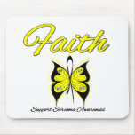 Sarcoma Faith Butterfly Ribbon Mouse Mat