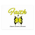 Sarcoma Faith Butterfly Ribbon Postcard