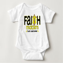 Sarcoma Faith Matters Cross 1 Baby Bodysuit