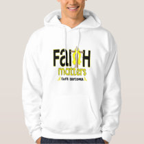 Sarcoma Faith Matters Cross 1 Hoodie